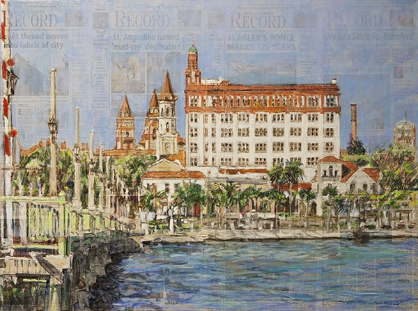 St-Augustine-Bay-Front-30x40-Acrylic-on-St-Augustine-Record-M