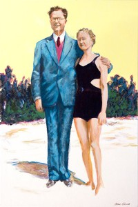 """Mom and Dad - 1928"" Acrylic on Canvas 36x24"