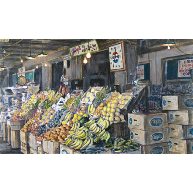 All Night Food Store 30x50 Oil on Canvas