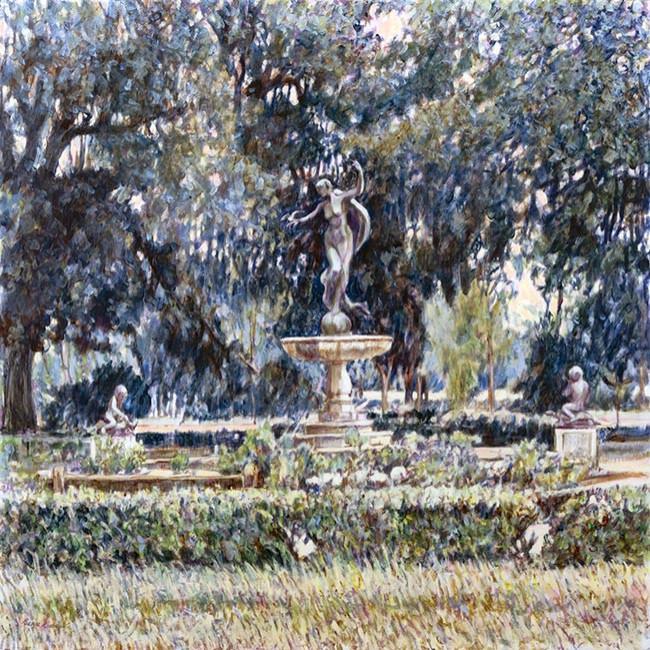 Entrance Adubon Park 42x42 Acrylic on Canvas
