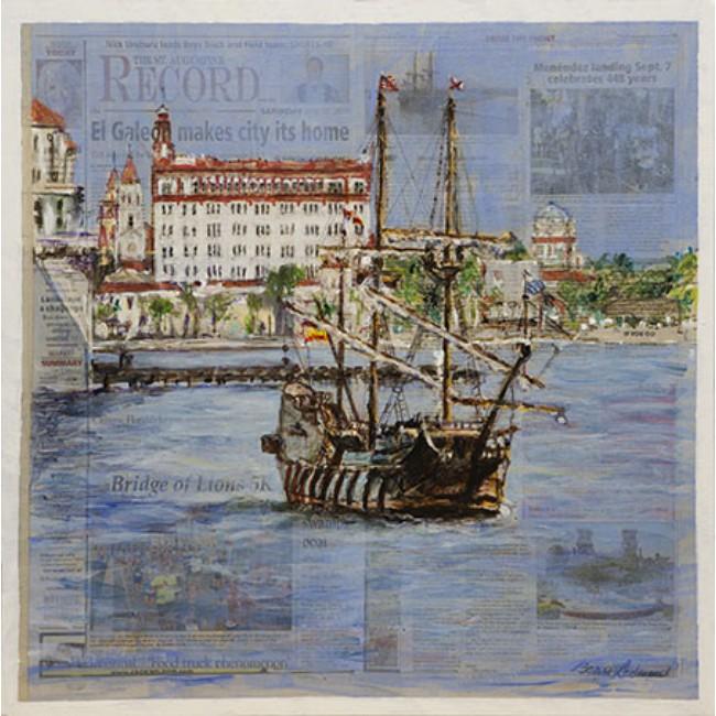 El Galeon 24x24 Acrylic on Canvas