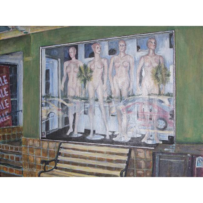 Four Nudes On San Marco 30x40 Acrylic on Canvas