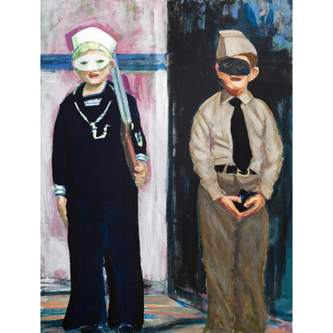 Fraternal Twins 50x38 Acrylic on Canvas