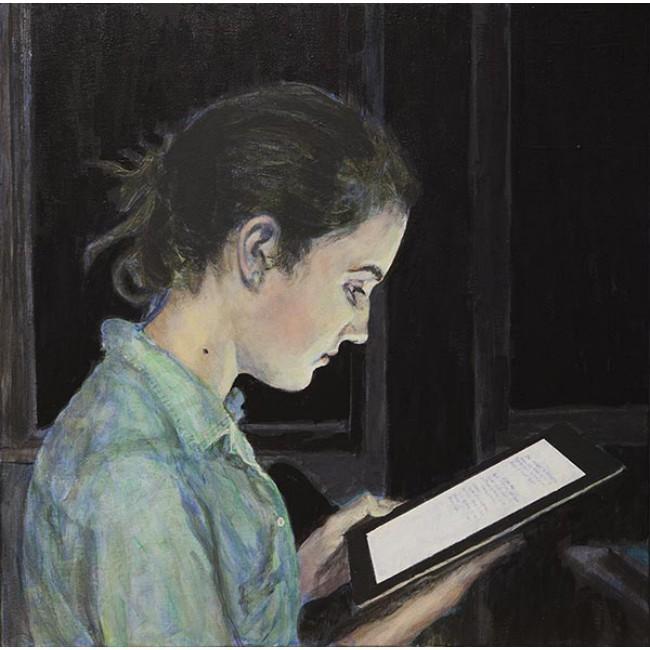 The Reader 24x24 Acrylic on Canvas