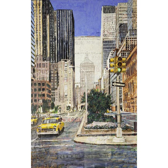 Park Avenue 2 48x30 Acrylic over New Yorker Covers