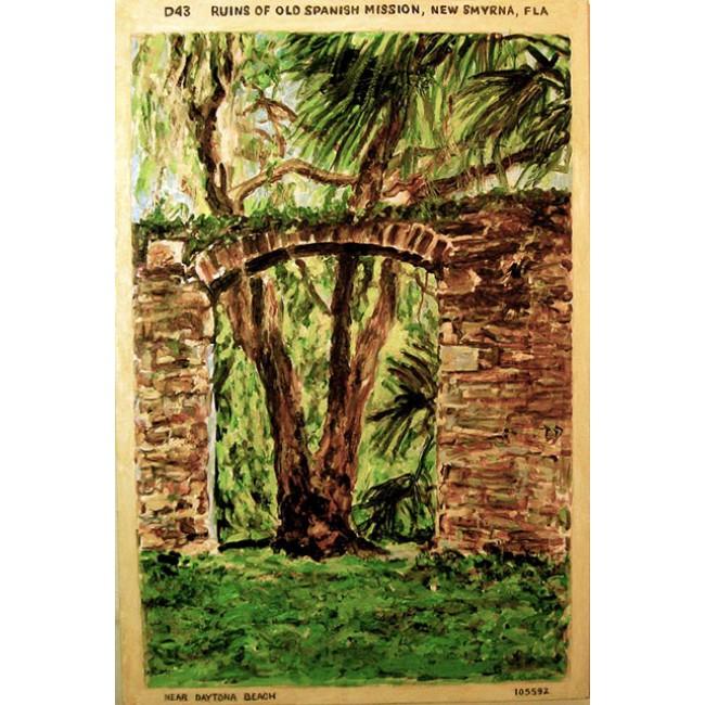 Sugar Mill Postcard 36 x 24 Acrylic on Canvas