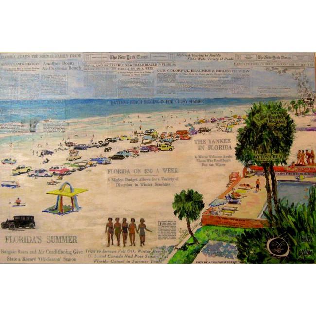 World's Most Famous Beach 24 x 36 Mixed Media